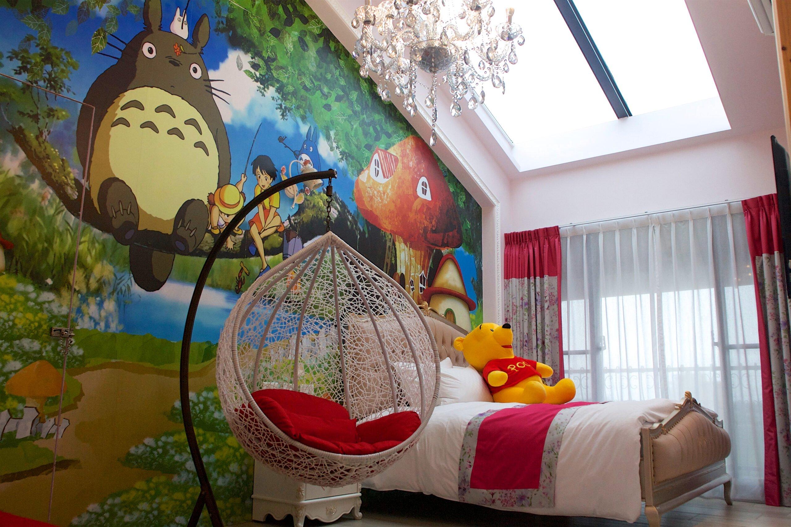 童話村桑椹_016:童話村民宿為「景觀溜滑梯湯屋民宿」,佈置得充滿童趣浪漫